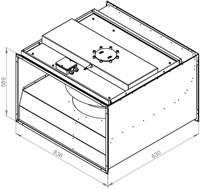 Ruck ongeïsoleerde kanaalventilator 9120m³/h - 800x500 (KVR 8050 D4 30)-2