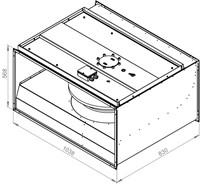 Ruck ongeïsoleerde kanaalventilator 11460m³/h - 1000x500 (KVR 10050 D4 30)-2