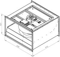 Ruck ongeïsoleerde kanaalventilator EC-motor 4610m³/h - 600x350 (KVR 6035 EC 31)-2