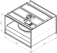 Ruck ongeïsoleerde kanaalventilator EC-motor 5170m³/h - 700x400 (KVR 7040 EC 30)-2