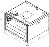 Ruck geïsoleerde kanaalventilator 3670m³/h - 600x350 (KVRI 6035 E4 31)-2