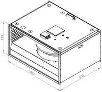 Ruck geïsoleerde kanaalventilator 10610m³/h - 1000x500 (KVRI 10050 D4 30)-2