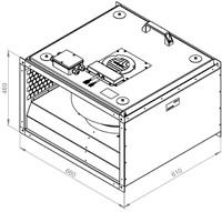 Ruck geïsoleerde kanaalventilator EC-motor 4390m³/h - 600x350 (KVRI 6035 EC 31)-2