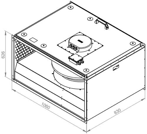 Ruck geïsoleerde kanaalventilator EC-motor 11505m³/h - 1000x500 (KVRI 10050 EC 30)-2