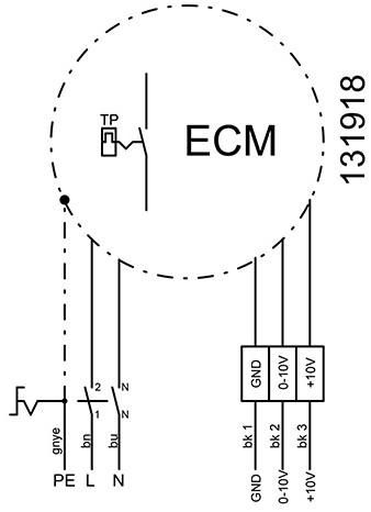 Ruck metalen dakventilator met EC-Motor en opendraaiende ventilatie-unit 610 m³/h (DVA 190 ECP 31)-3