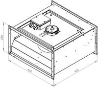 Ruck ongeïsoleerde kanaalventilator EC-motor 1010m³/h - 400x200 (KVR 4020 EC 30)-2