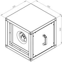 Ruck boxventilator met EC motor 1030m³/h (MPC 225 EC 20)-2