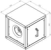 Ruck boxventilator met EC motor 2030m³/h (MPC 280 EC 20)-2