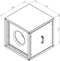 Ruck boxventilator met EC motor 6270m³/h (MPC 450 EC 20)-2