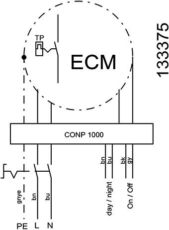 Ruck metalen dakventilator met EC motor, werkschakelaar en constante drukregeling 940m³/h (DVA 220 ECCP 30)-3