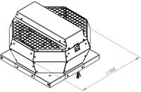Ruck metalen dakventilator met EC motor, werkschakelaar en constante drukregeling 940m³/h (DVA 220 ECCP 30)-2