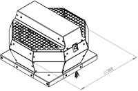 Ruck metalen dakventilator met EC motor, werkschakelaar en constante drukregeling 1200m³/h (DVA 250 ECCP 30)-2