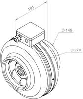 Ruck buisventilator 440m³/h - Ø  150 mm (RS 150 10)-2