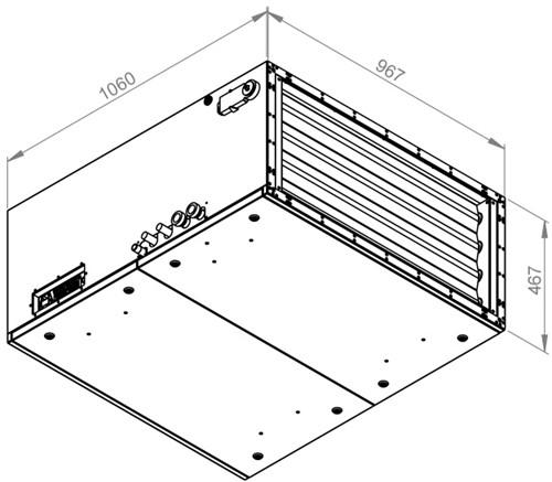 Ruck toevoer luchtbehandelingskast met regeling - DV koeler 3790m³/h - 900x400 (SL 9040 E3J 12 10)-2