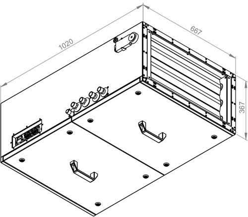 Ruck toevoer luchtbehandelingskast met regeling - PKW koeler 1785m³/h - 600x300 (SL 6030 E3J 11 10)-2