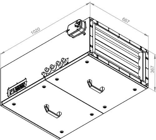 Ruck toevoer luchtbehandelingskast met regeling - PKW koeler 1785m³/h - 600x300 (SL 6030 E3J 21 10)-2