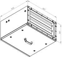 Ruck afvoer luchtbehandelingskast zonder regeling 2280m³/h - 600x300 (SL 6030 E1 10 10)-2