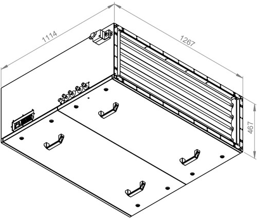 Ruck toevoer luchtbehandelingskast met regeling - PKW koeler 6470m³/h - 1200x400 (SL 12040 E3J 11 10)-2