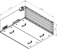 Ruck toevoer luchtbehandelingskast met regeling - DV koeler 6470m³/h - 1200x400 (SL 12040 E3J 22 10)-2