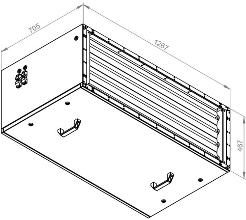 Ruck afvoer luchtbehandelingskast zonder regeling 8925m³/h - 1200x400 (SL 12040 E1 10 10)-2