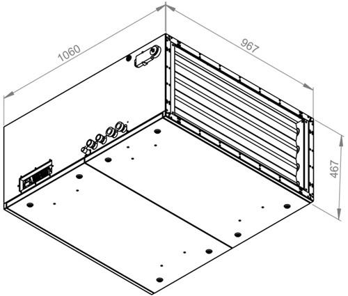 Ruck toevoer luchtbehandelingskast met regeling - PKW koeler 3790m³/h - 900x400 (SL 9040 E3J 11 10)-2