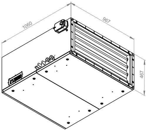 Ruck toevoer luchtbehandelingskast met regeling - DV koeler 3790m³/h - 900x400 (SL 9040 E3J 22 10)-2