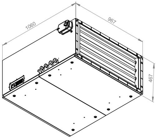 Ruck toevoer luchtbehandelingskast met regeling - PKW koeler 3790m³/h - 900x400 (SL 9040 E3J 21 10)-2