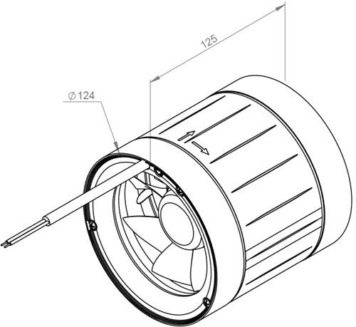 Ruck ETAMASTER buisventilator 142m³/h -Ø  125 mm (EM 125 E2 02)-2