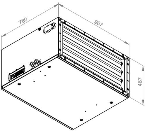 Ruck toevoer luchtbehandelingskast met regeling 4280m³/h - 900x400 (SL 9040 E2J 10 10)-2