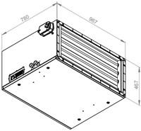 Ruck toevoer luchtbehandelingskast met regeling 4280m³/h - 900x400 (SL 9040 E2J 20 10)-2