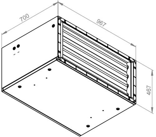 Ruck afvoer luchtbehandelingskast zonder regeling 5110m³/h - 900x400 (SL 9040 E1 10 10)-2