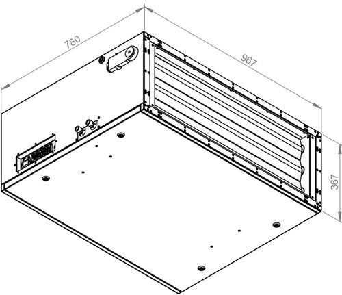 Ruck toevoer luchtbehandelingskast met regeling 3830m³/h - 900x300 (SL 9030 E2J 10 10)-2