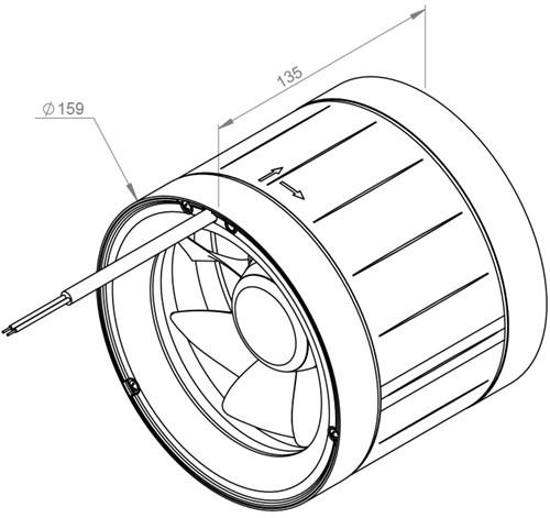 Ruck ETAMASTER buisventilator 315m³/h -Ø  160 mm (EM 160 E2 02)-2