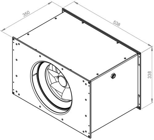 Ruck Etamaster kanaalventilator EC-motor 2330m³/h - 500x300 (EMKI 5030 EC 20)-2