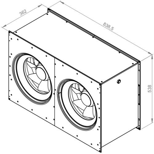 Ruck Etamaster kanaalventilator EC-motor 6140m³/h - 800x500 (EMKI 8050 EC 21)-2
