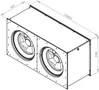 Ruck Etamaster kanaalventilator EC-motor 10410m³/h - 1000x500 (EMKI 10050 EC 22)-2