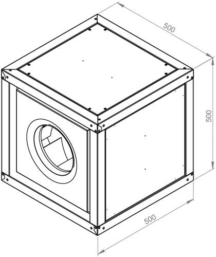 Ruck boxventilator met motor buiten luchtstroom 4225m³/h (MPC 315 E2 T21)-2