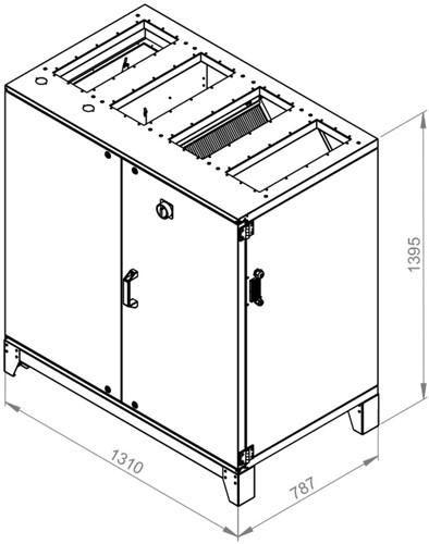 Ruck ETA luchtbehandelingskast met tegenstroom en PWW verwarmer 1410m³/h (ETA K 1200V WO JR)-2