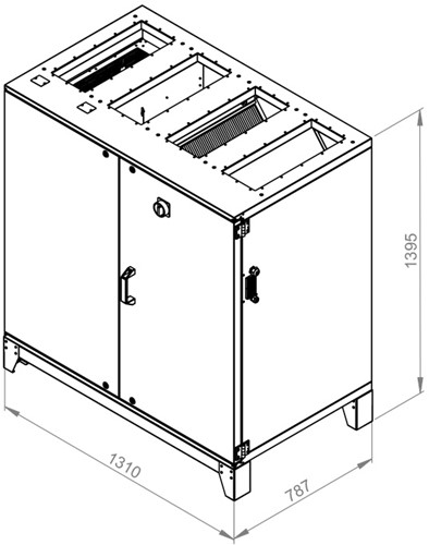 Ruck ETA luchtbehandelingskast met tegenstroom en elektrisch warmteregister 1440m³/h (ETA K 1200V EO JR)-2