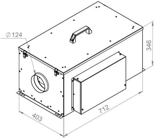 Ruck compacte luchttoevoerunit met verwarmingsbatterij en EC-motor 500m³/h - Ø125 (FFH 125 EC 10)-2