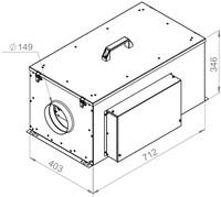 Ruck compacte luchttoevoerunit met verwarmingsbatterij en EC-motor 570m³/h - Ø150 (FFH 150 EC 10)-2