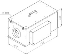 Ruck compacte luchttoevoerunit met verwarmingsbatterij en EC-motor 580m³/h - Ø160 (FFH 160 EC 10)-2