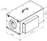 Ruck compacte luchttoevoerunit met verwarmingsbatterij en EC-motor 620m³/h - Ø200 (FFH 200 EC 10)-2