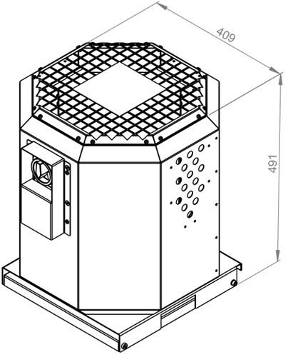 Ruck dakventilator voor keukenafzuiging tot 120°C  - 1520 m³/h - (DVN 225 E2 21)-2