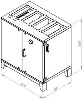 Ruck ETA luchtbehandelingskast met tegenstroom en elektrisch warmteregister 780m³/h (ETA K 600V EO JR)-2