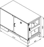 Ruck ETA luchtbehandelingskast met tegenstroom en PWW verwarmer - rechts - 1500m³/h (ETA K 1200H WO JR) -2