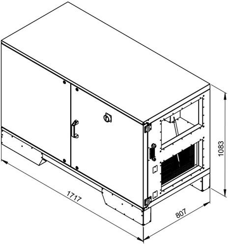 Ruck ETA luchtbehandelingskast met tegenstroom en elektrisch warmteregister - rechts - 1520m³/h (ETA K 1200H EO JR) -2