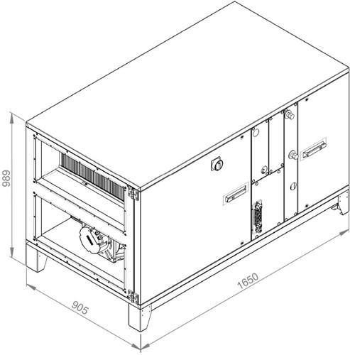Ruck ROTO luchtbehandelingskast met warmtewiel 2620m³/h (ROTO K 1700H WO JR)-2