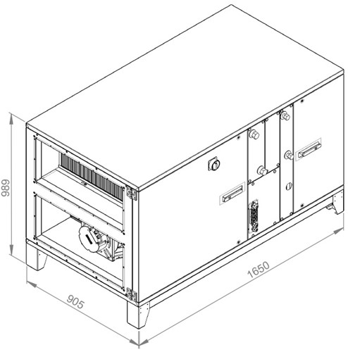 Ruck ROTO luchtbehandelingskast met warmtewiel - PKW koeler 2500m³/h (ROTO K 1700H WK JR)-2