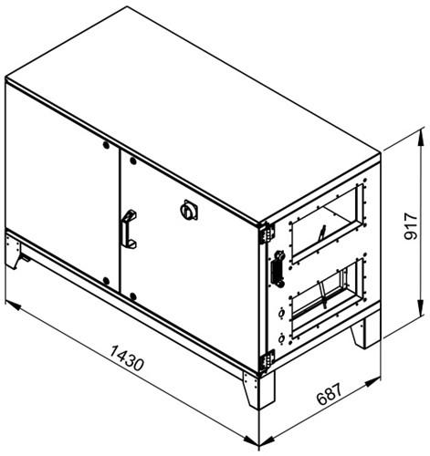 Ruck ETA luchtbehandelingskast met tegenstroom en PWW verwarmer - rechts - 780m³/h (ETA K 600H WO JR) -2